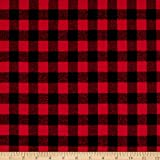 Arts & Crafts : Kaufman Mammoth Flannel Buffalo Check Medium Red Fabric By The Yard