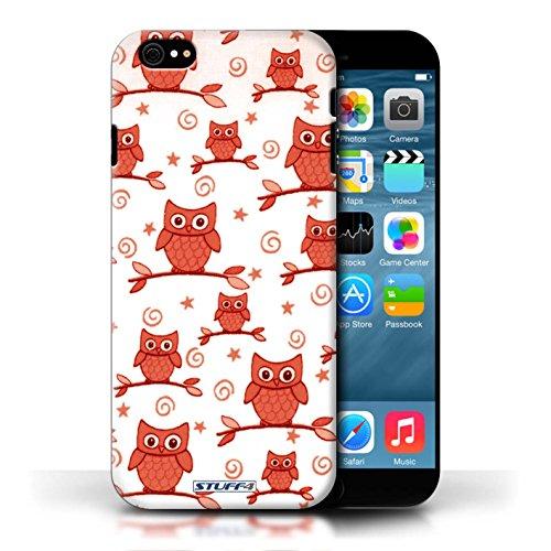 Etui / Coque pour Apple iPhone 6/6S / Rouge/Blanc conception / Collection de Motif Hibou
