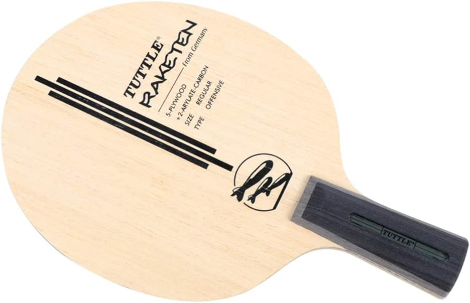 perfeclan Raqueta de Tenis de Mesa Paleta de Ping Pong Madera Antigua Mango Corto Penhold Diseño Súper Ligero