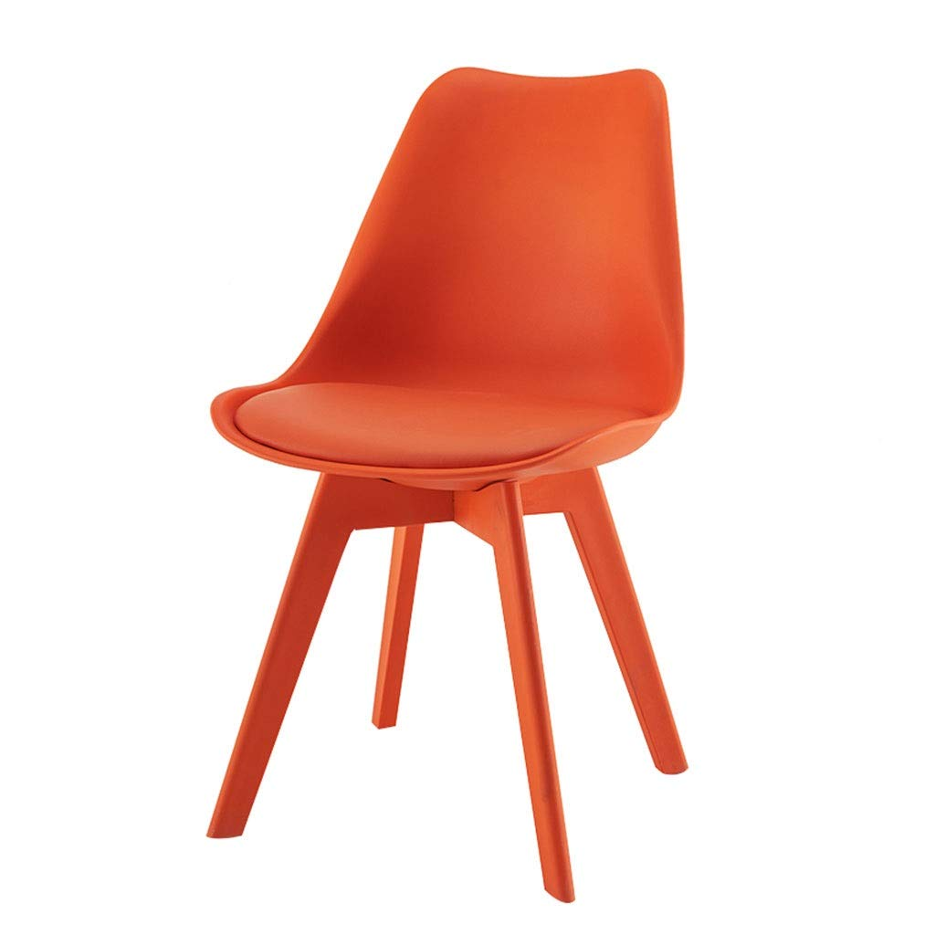 orange YXYH Nordic Plastic Tulip Dining Chair color Leisure Stool for Office Lounge Dining Kitchen Can Bear 150kg (color   Red)