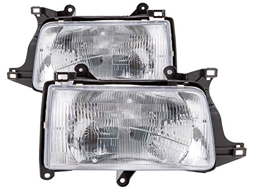 - Headlights Depot Replacement for Toyota T-100 Headlights OE Style Replacement Headlamps Driver/Passenger Pair New
