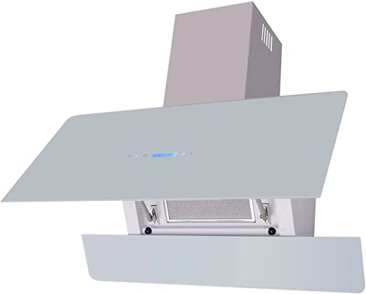 Nishore Campana Extractora con Pantalla Táctil, con 2 Filtros de Grasa de Aluminio Lavable de 3 Capas, Blanco y Plata 900 x 378 x 840 mm: Amazon.es: Hogar