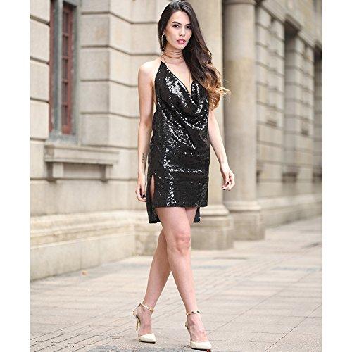 fiesta noche mujer la de FOLOBE A vestido vestido de lentejuelas de WpTqngzY