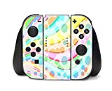 Colorful Design Bright Colors Lines Design Nintendo Switch Controller Vinyl Decal Sticker Skin by Moonlight Printing