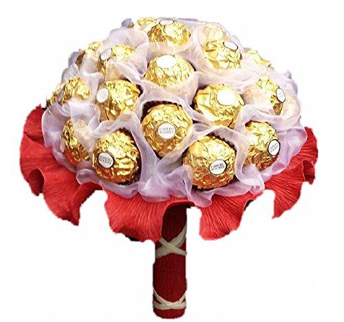 Handgebundener Pralinenstrauß Ferrero Rocher Pralinen Blumen