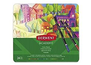 DERWENT(R) 2301938 COLOURED PENCILS, PK 24 TIN