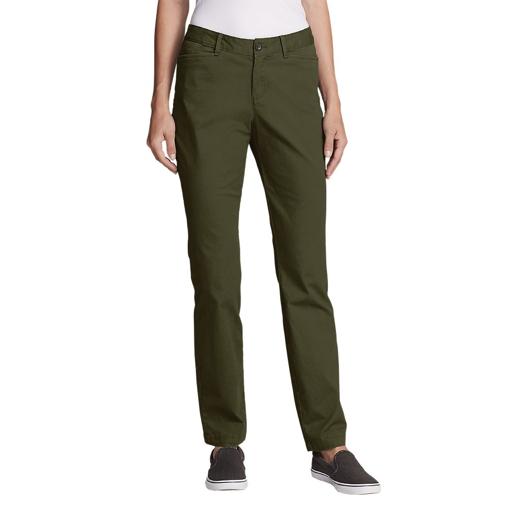 Eddie Bauer Women's Legend Wash Stretch Pants - Curvy Fit, Sprig Petite 2