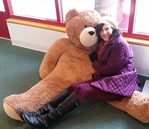 51LS0N puwL - Vermont Teddy Bear - Huge Love Bear, 6 Feet Tall, Brown