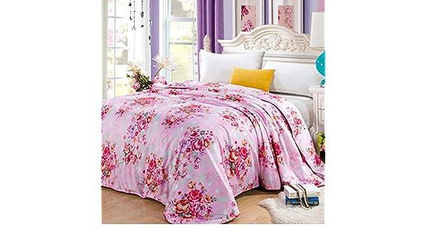 Yxsd Printed Silk Quilt 8 Sizes 14 Colors Ultra Soft Hypoallergenic Cotton Quilt Cover Color : #13, Size : 150x200cm-3kg Vintage Floral Design