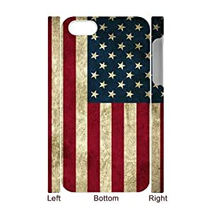 DIYCASETORE Design 3D Bumper Plastic Case American Retro Flag customized case for Iphone 4/4s
