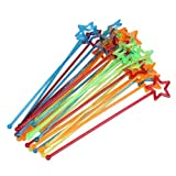 Dealglad 30pcs Mixed-color Plastic Star Design