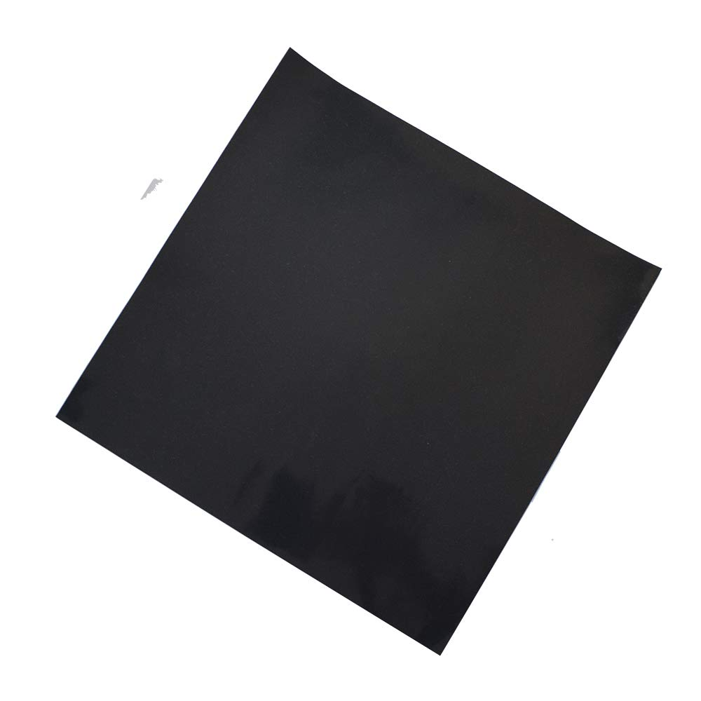 Adhesive Black Heat Resistant Rubber Pad Sheet Thin Silicone Rubber Gasket Sheet 12X12 inch,1/25 Inch Thick Gaskets DIY Material, Supports, Leveling, Sealing, Bumpers, Protection