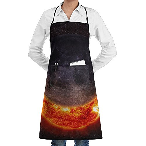 Solar Eclipse Sun Sewing Aprons With Pocket Kits Adjustable Home Kitchen Apron