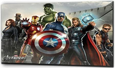The Avengers - Marvel Characters - Canvas Print - Color: As Shown In  Picture - Canvas Size: 16