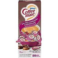 Nestle Coffee mate Coffee Creamer, Salted Caramel Chocolate, Liquid Creamer Singles, Box of 50 Singles