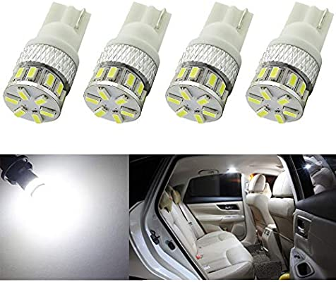 Pack de 4 Luces Led 194 168 921, luz Blanca Led, 12-14 V, para Interior y Exterior, T10, T15, 18SMD 3014, Recambio para 912 2825, Múltiples Usos: Amazon.es: Coche y moto