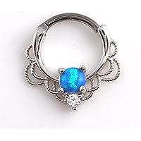 Sumanee Nipple Hoop New Steel Ear Gold Opal Medical Septum Ring Piercing Jewelry Nose