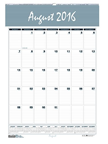 "House of Doolittle 2016 - 2017 Monthly Wall Calendar, Academic, Bar Harbor, 12 x 17"" (HOD352- 17)"