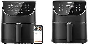 COSORI Smart WiFi Air Fryer 5.8QT(100 Recipes), 1700-Watt Programmable Base for Air Frying & Air Fryer,Max XL 5.8 Quart,1700-Watt Electric Hot Air Fryers Oven & Oilless Cooker