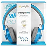 ブルー - SHAREPORTとLilGadgets Untangled Proのプレミアム子供のワイヤレスBluetoothヘッドフォン