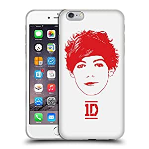 Official One Direction 1D Louis Red Graphic Faces Soft Gel Back Case Cover for Apple iPhone 6 Plus 5.5