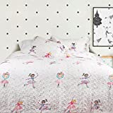 QE Home- Ice Dance Cotton 3pc Coverlet Set | Queen