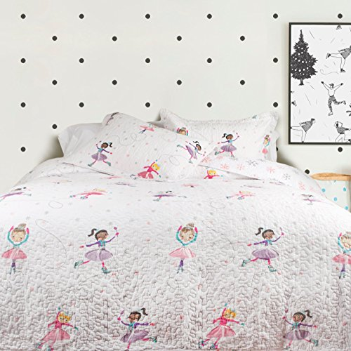QE Home Ice Dance Cotton 3pc Coverlet Set | Queen by QE Home