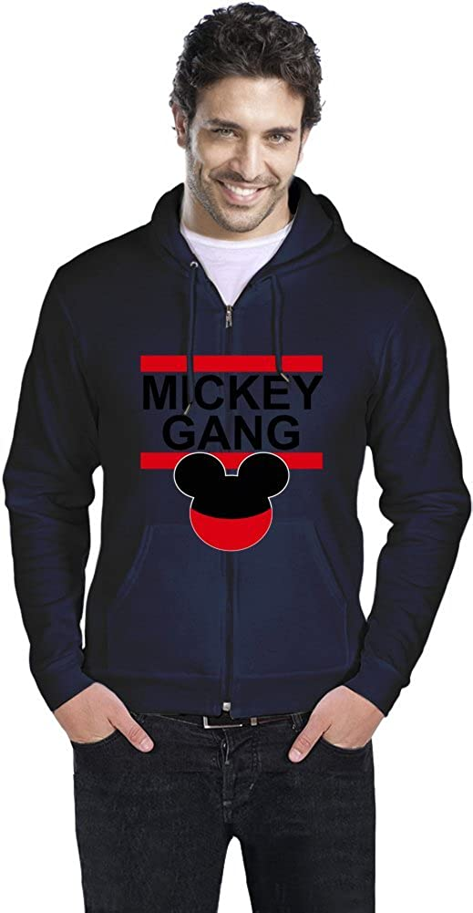 Mickey Gang Hipster TUMBLR Mens Zipper Hoodie: Amazon.es: Ropa y accesorios