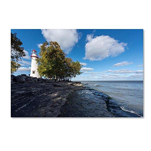 Marblehead Lighthouse Ohio by Kurt Shaffer, 22x32-Inch Canvas Wall ()