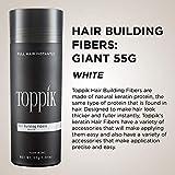 Toppik Hair Building Fibers, White, 55g