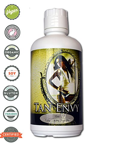 Tan Envy European Blend Light 7.5% DHA Sunless Airbrush Spray Tanning Solution 32oz