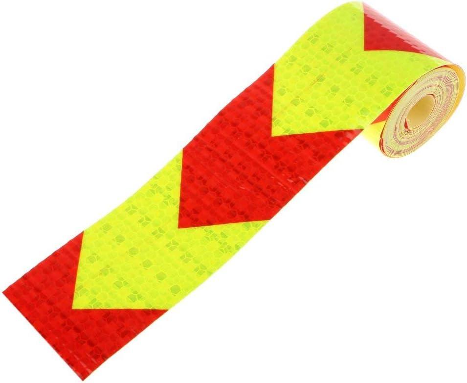 reflektierend Pfeil 5cm*3m Rot//Gelb Wiwi.f zweifarbige Warnaufkleber f/ür K/örper