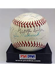 Hof Multi Signed Baseball George Sisler Sam Rice Heinie Manush 24 Sigs - PSA DNA Certified - Autogra