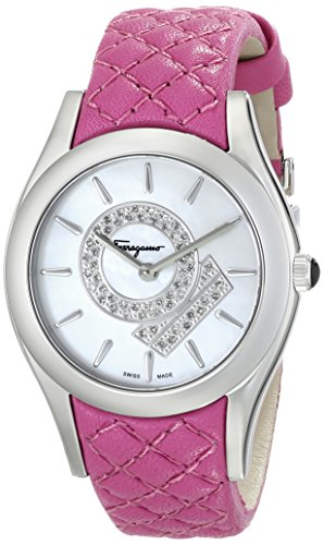 Salvatore-Ferragamo-Womens-FG4010014-LIRICA-Diamond-Accented-Stainless-Steel-Watch-with-Pink-Leather-Band