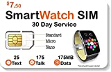 SpeedTalk Mobile Smart Watch SIM Card for 2G 3G 4G LTE GSM Smartwatches and Wearables - 30 Day Service - USA Canada & Mexico Roaming