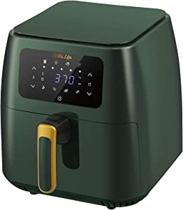 ESLITE LIFE Air Fryer, 8.5 Quart 8-in-1 Electric Hot Air Fryer Oven & Oilless Cooker with LED Digital Touchscreen and Nonstick Frying Pot, 1700-Watt, 8 Cooking Presets, BPA Free, Family Size, Green