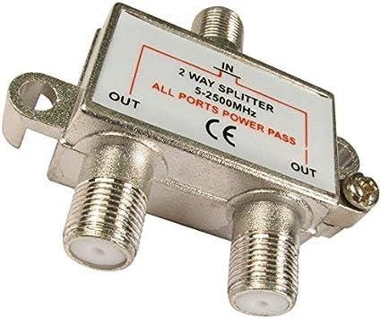 Sky Satellites - Kit con cable de antena y adaptador divisor de TV multidirección (comprobar compatibilidad local)