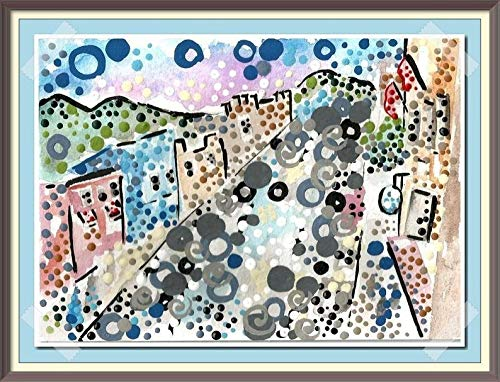 Amazon Com Park City Utah Northern Ut The West Painting Unique Original Artwork Best Selling Art Small Town City Watercolor Acrylic Modern Paintings Stickykitties Art Gallery Contemporary Originals Amazon Handmade