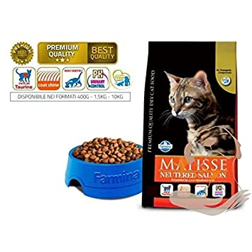 Farmina Matisse con salmón para gatos esterilizados 10 kg: Amazon.es: Jardín