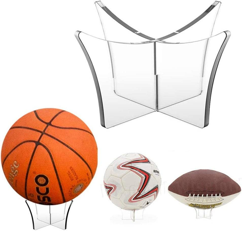 Supporto Palla Trasparente per Calcio pallavolo Rugby Calcio Yunhigh Espositore Basket Acrilico