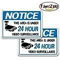 Video Surveillance Signs Security Sign Video Surveillance Alert 1Set (2ea) - Intrusion Prevention Effect 14 x 10 inch square Aluminum Sign by TheJD