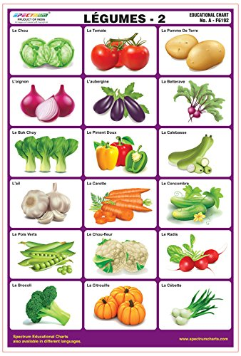 Spectrum French Language Vegetables-2 Laminated Wall Chart Educational Kids Learning