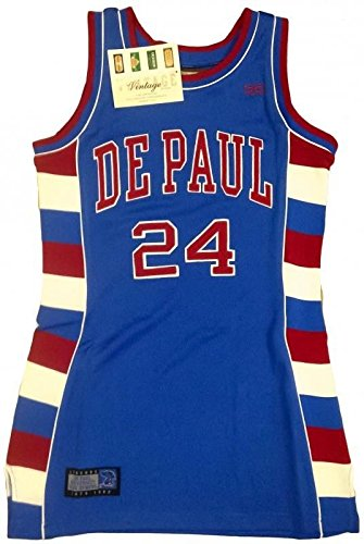 e13bfbbba6e0fc Amazon.com   NEW! DePaul Blue Demons Jersey Dress - Mark Aguirre  53 ...