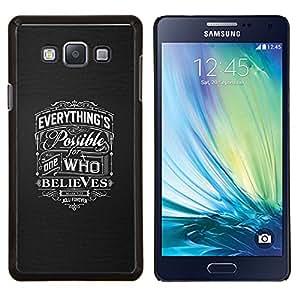 TECHCASE---Cubierta de la caja de protección para la piel dura ** Samsung Galaxy A7 ( A7000 ) ** --creen posible el amor dios gris cristiana