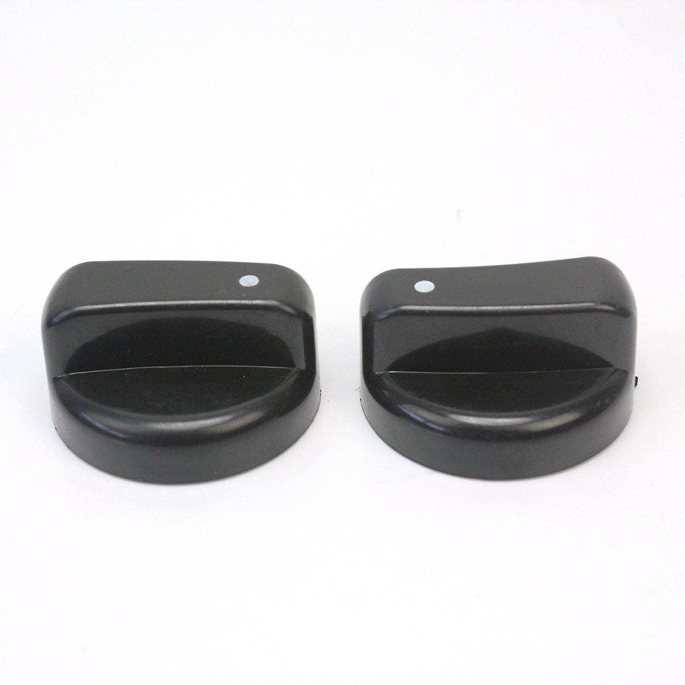 4x Negro Interruptor Pl/ástico Control Perilla para Cocina de Gas Estufa Horno