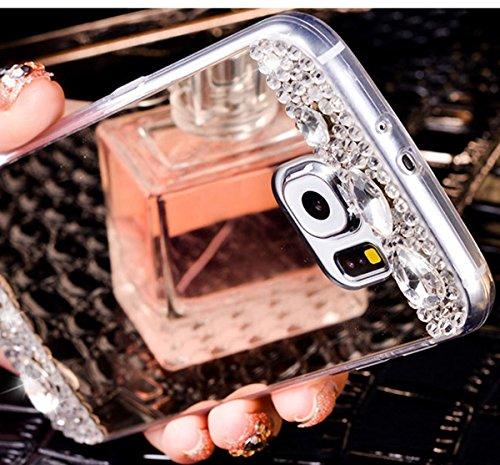 Funda Samsung Galaxy S6 Cover Samsung G920,Ukayfe Bling Funda Case para Samsung Galaxy S6 Samsung G920,Samsung Galaxy S6 Samsung G920 3D Crystal Centelleo Cover Funda caja del gel TPU Silicona con Bli Oro rosa 1#