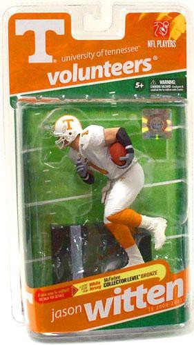 - McFarlane Toys NCAA COLLEGE Football Sports Picks Series 2 Action Figure Jason Witten (Tennessee Volunteers) White Jersey Bronze Collector Level Chase
