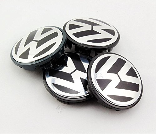 AOWIFT 4 pcs 65mm Wheel Center Cap Hub Cover for VW Volkswagen Golf GTI PASSAT JETTA by AOWIFT (Image #2)