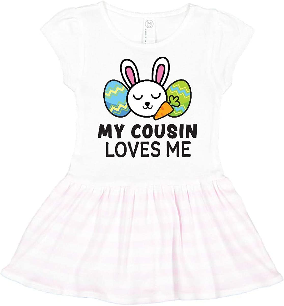 inktastic My Cousin Loves Me with Bunny and Easter Eggs Toddler T-Shirt