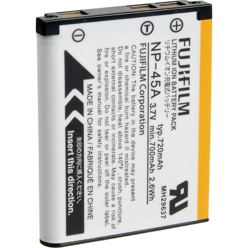 Fujifilm NP-45A Li-Ion Battery - Retail Packaging (Discontinued by Manufacturer) (Battery Camera Fuji Film)